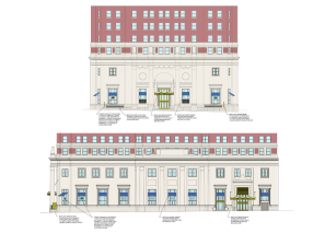 Colored CAD elevation